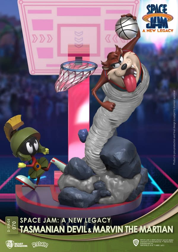 Beast Kingdom Hits the Court With Space Jam: A New Legacy Statues