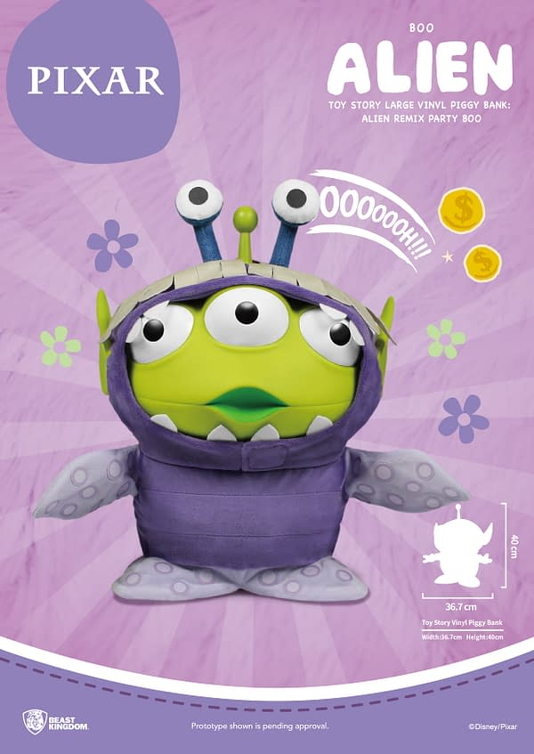 Toy Story Three-Eyed Alien Play Dress Up with Beast Kingdom