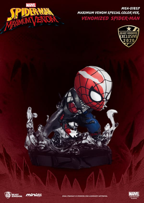 Beast Kingdom Venomized SDCC 2020 2-PAck Spider-Man and Iron Man