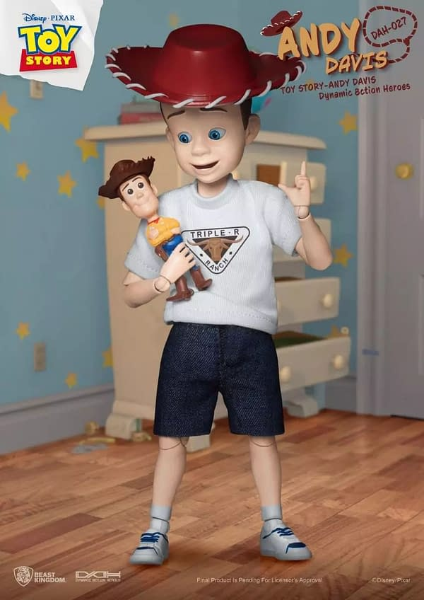 Toy Story's Andy Joins Buzz and Woody as Toy from Beast Kingdom