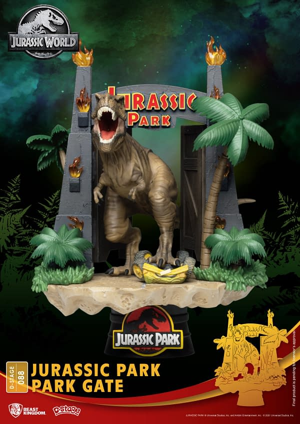 Jurassic Park Gets a New Prehistoric Statue From Beast Kingdom