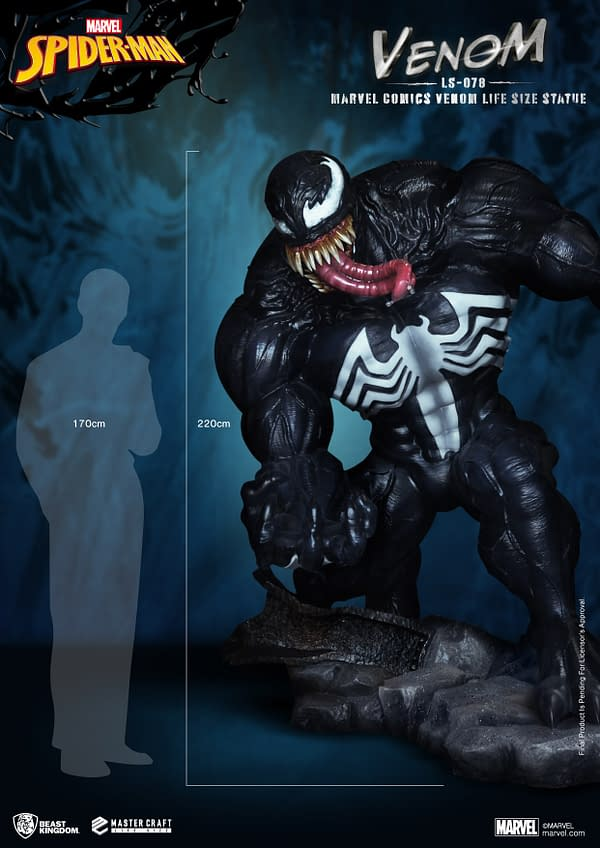 Venom Gets Monstrous Life-Size Statue From Beast Kingdom