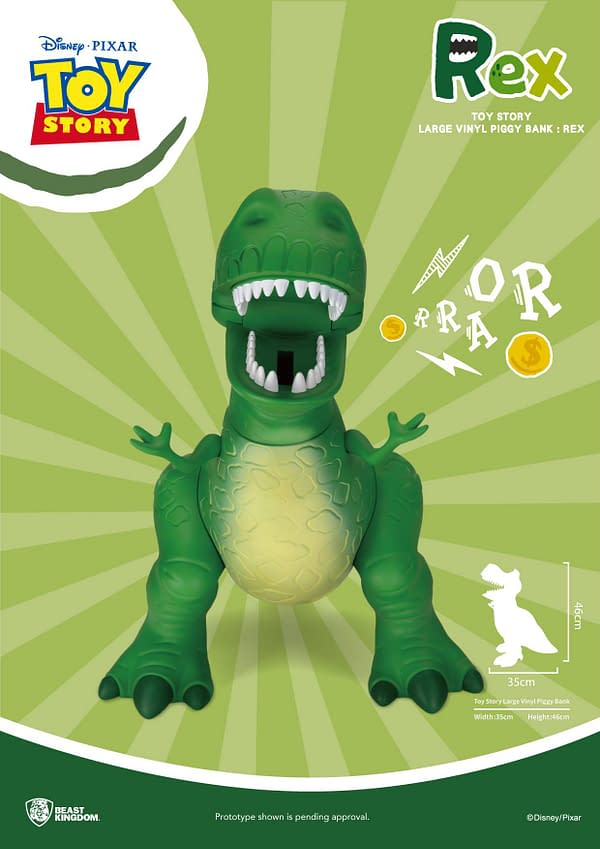 Toy Story Rex Gets Enlarged with New Beast Kingdom Collectible