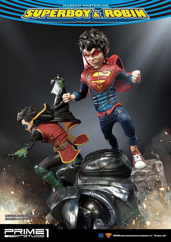 DC Comics Super Sons Statue Teased By Prime 1 Studio