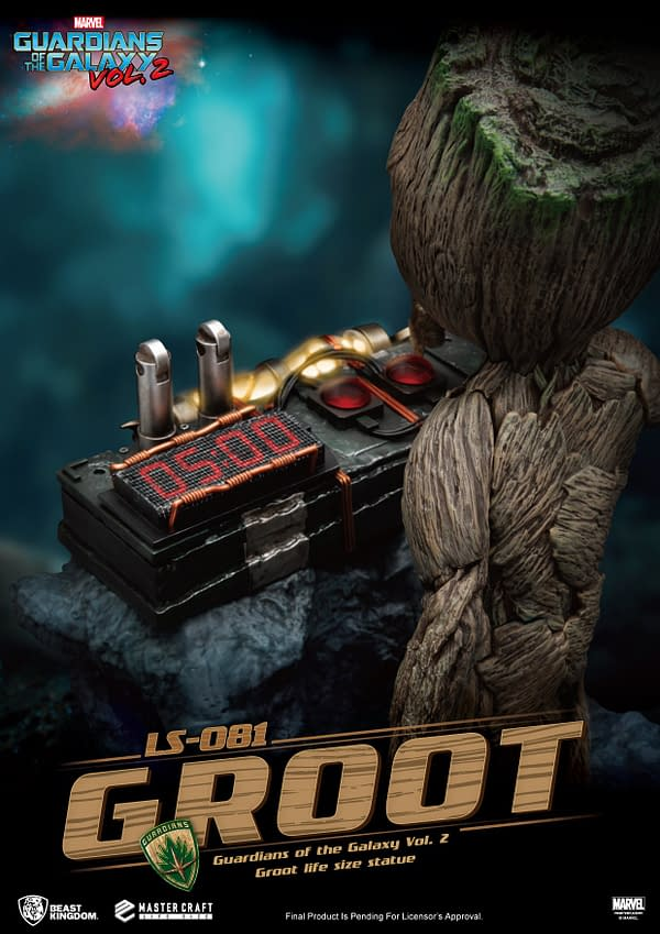 Baby Groot Gets Explosive with the Newest Beast Kingdom Statue
