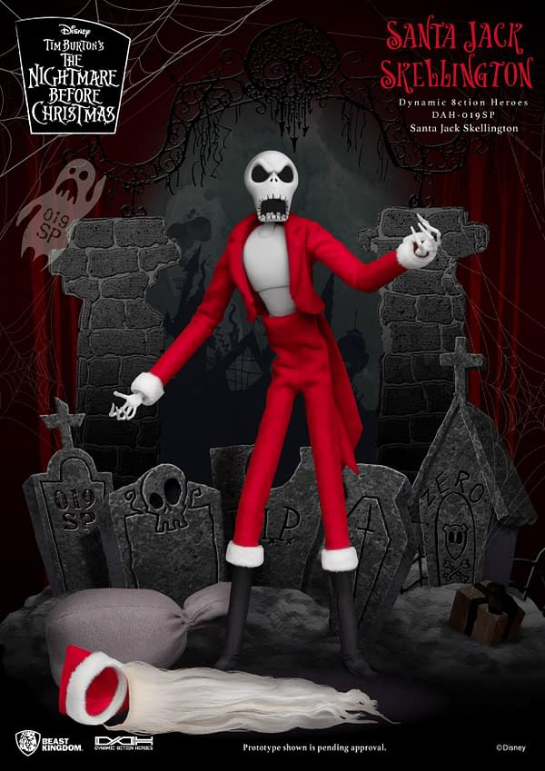 Nightmare Before Christmas Jack Skellington is Santa with Beast Kingdom