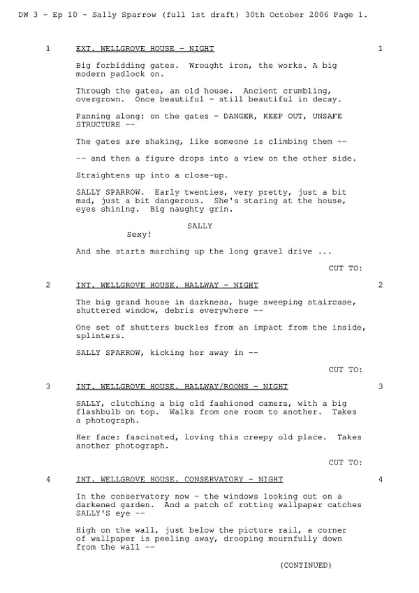 """Doctor Who: Steven Moffat """"Blink"""" First Draft Script Available Online"""