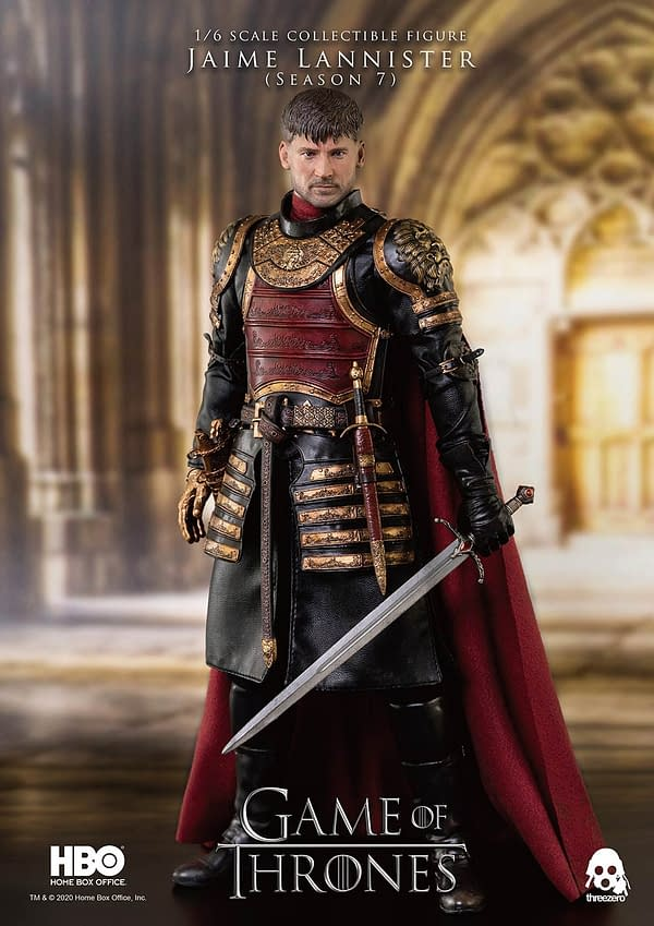 Game of Thrones Jamie Lannister Joins threezero with New Figure