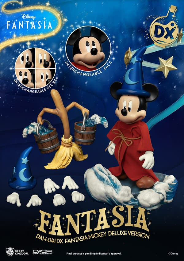 Disney Fantasia Mickey Mouse Casts a Spell With Beast Kingdom