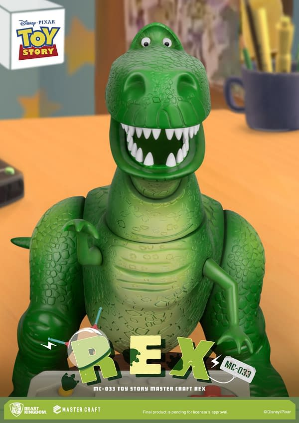 Toy Story Rex Gets a High Score with Disney Beast Kingdom Statue