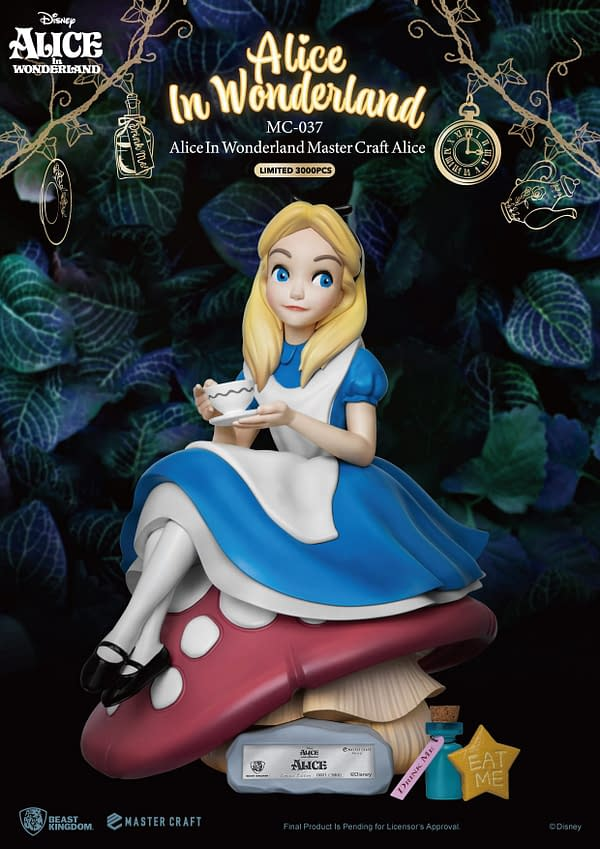 Alice in Wonderland Gets Limited 3,000 Piece Statue From Beast Kingdom
