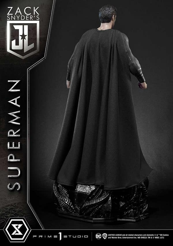 Superman Goes From Red and Blue To Back and Silver With Prime 1