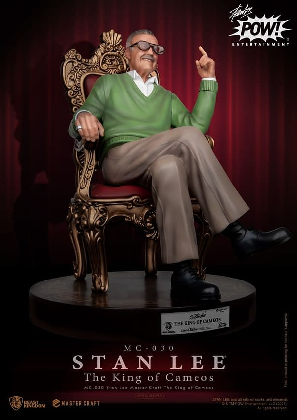 Stan Lee Master Craft Statue Coming Soon From Beast Kingdom