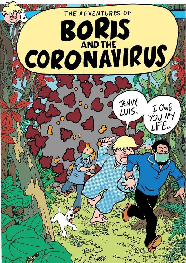 One Year Ago Boris Johnson Recovered From Coronavirus Reading Tintin