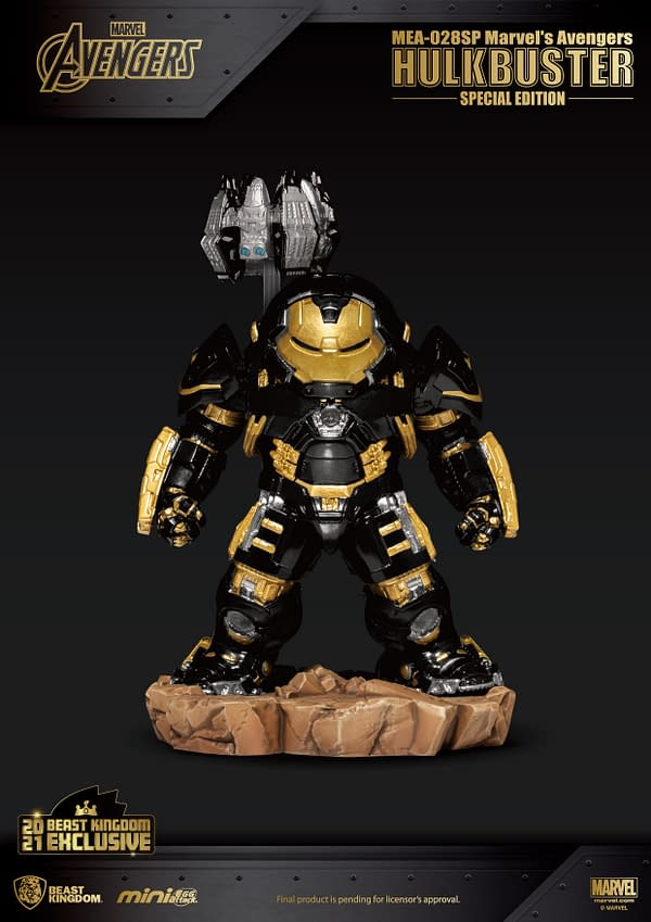 Hulkbuster Goes Black and Gold With New Beast Kingdom Figure
