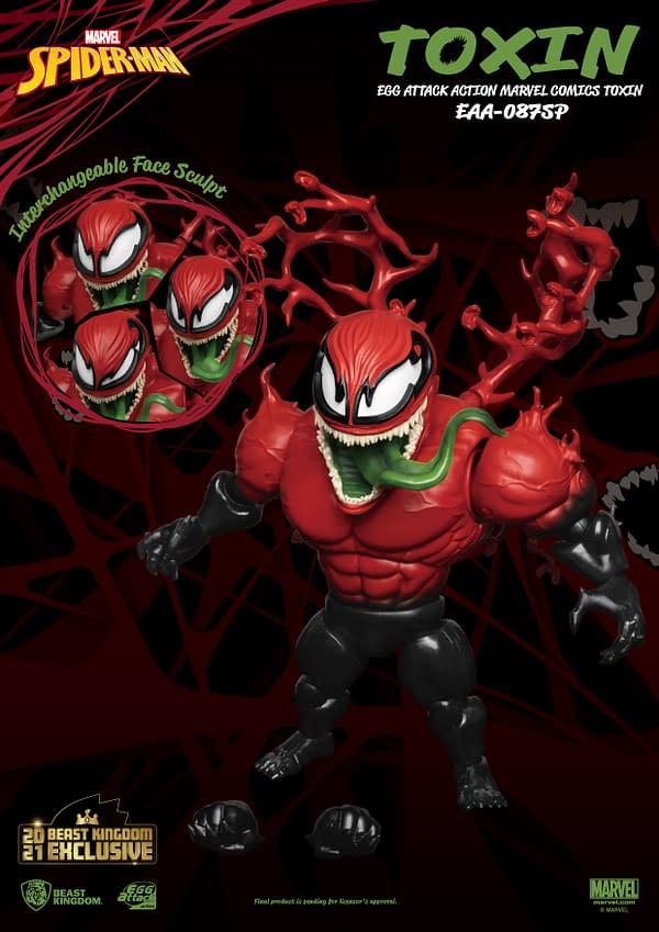 Marvel Comics Toxin Returns As Beast Kingdom's Newest Figure