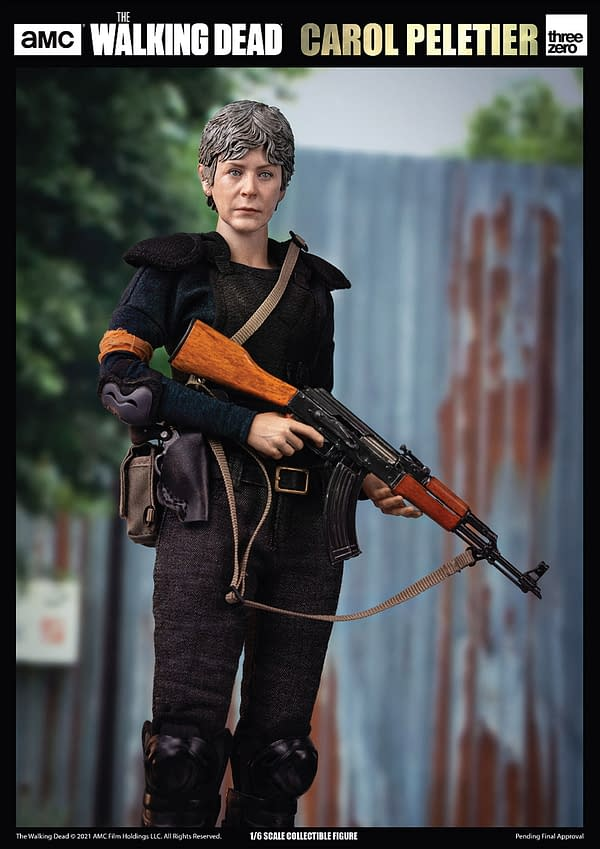 The Walking Dead Carol Peletier Gears Up With New threezero figure
