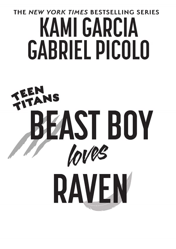 Beast Boy Loves Raven Graphic Novel by Kami Garcia and Gabriel Picolo