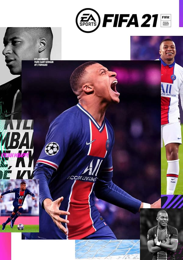 A look at the cover of FIFA 21 featuring Kylian Mbappé, courtesy of EA Sports.