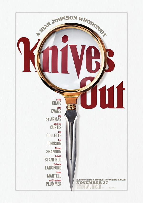 "11 New Character Descriptions and Posters for Rian Johnson's ""Knives Out"""