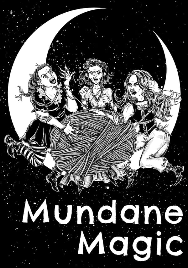 Cover art for Mundane Magic, courtesy of Lysa Penrose, with art by Maldo.