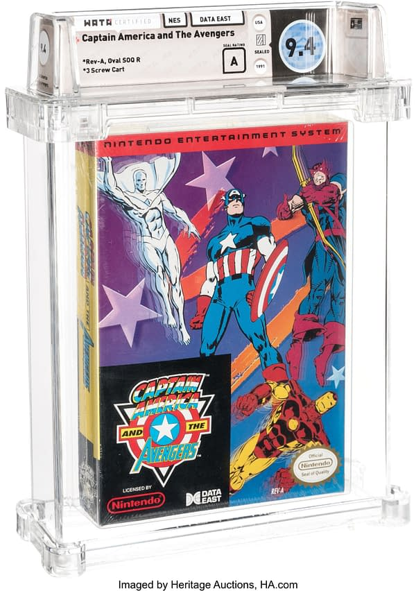 Captain America NES Game With White Vision, On Auction At Heritage