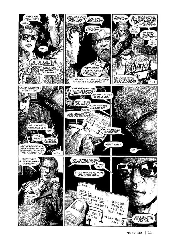 Interior preview page from BARRY WINDSOR-SMITH MONSTERS SGND HC (MR)