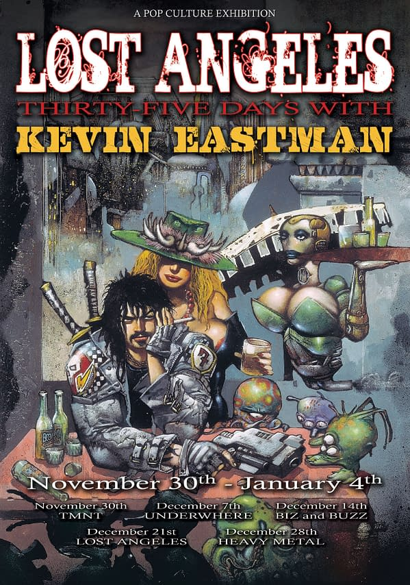 Kevin Eastman To Exhibit Himself At Meltdown Comics Through November And December