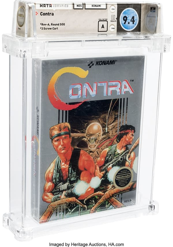 The Original Contra For NES Is Up For Auction Boxed & Sealed