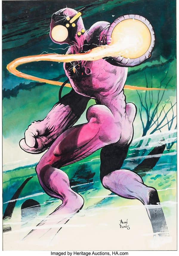 Alan Davis Original Painted Artwork Of The Fury From Captain Britain
