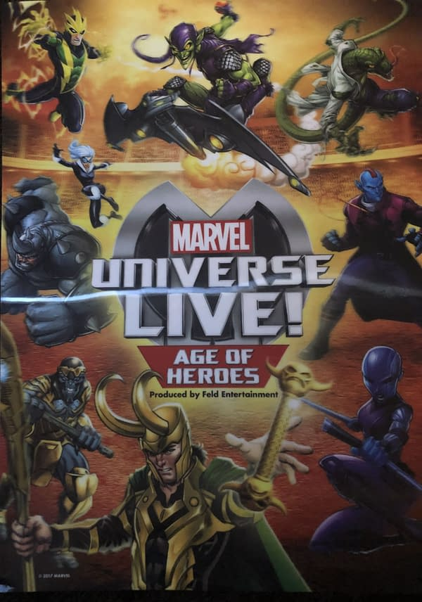 Marvel Universe LIVE! Souvenir Book Back Cover