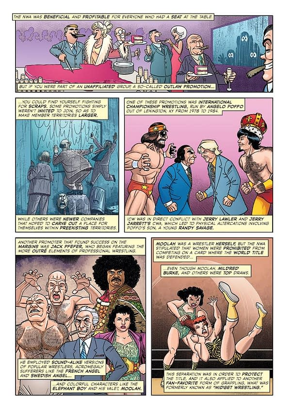 The Evolution of the Territories Explained in Exclusive Pages from 'The Comic Book Story of Pro Wrestling'