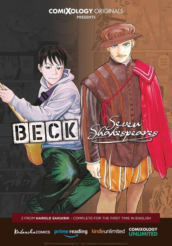 Harold Sakuishi Manga Series 'BECK' and 'Seven Shakespeares' Debut Free on ComiXology Unlimited