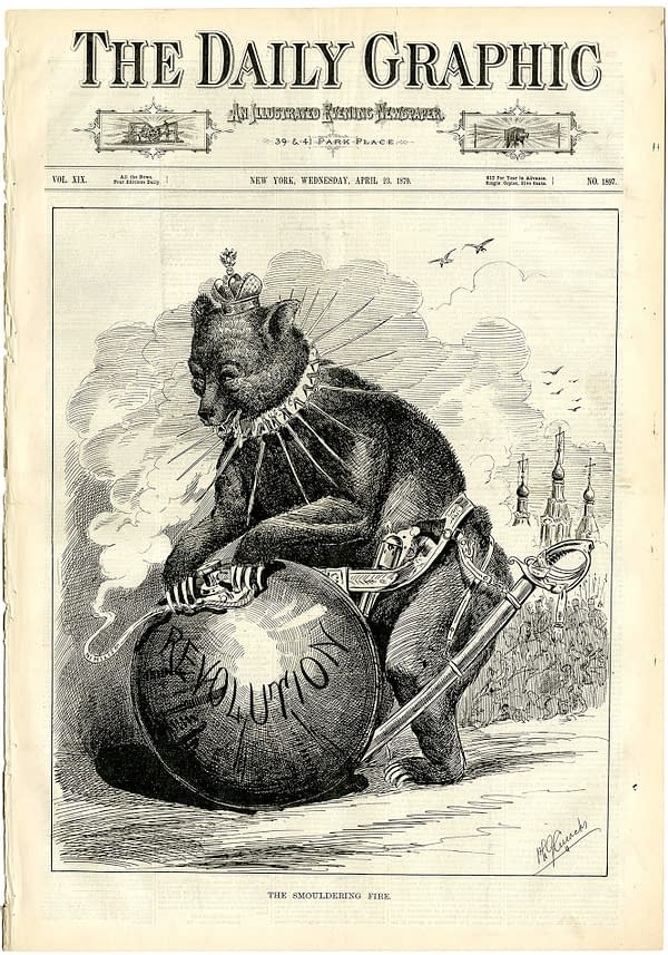 """THE ISSUE: A Vintage Daily Graphic in 1879, """"The Smoldering Fire"""""""