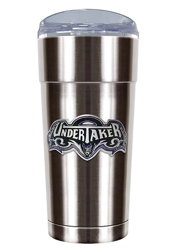 Undertaker stainless steel WrestleMania tumbler