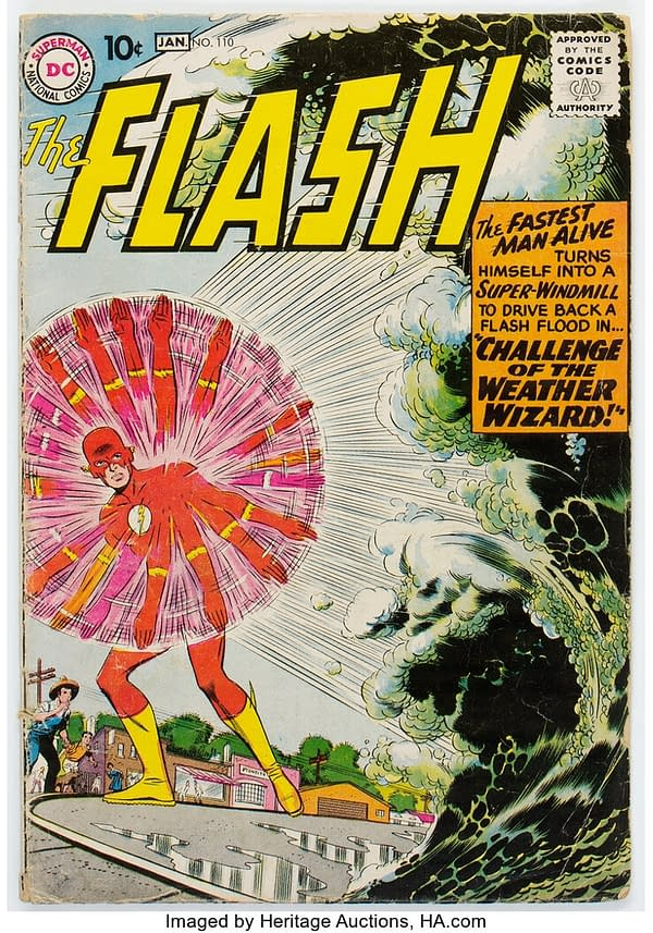 Weaponizing the Weather in 1959's Flash #110 from DC Comics