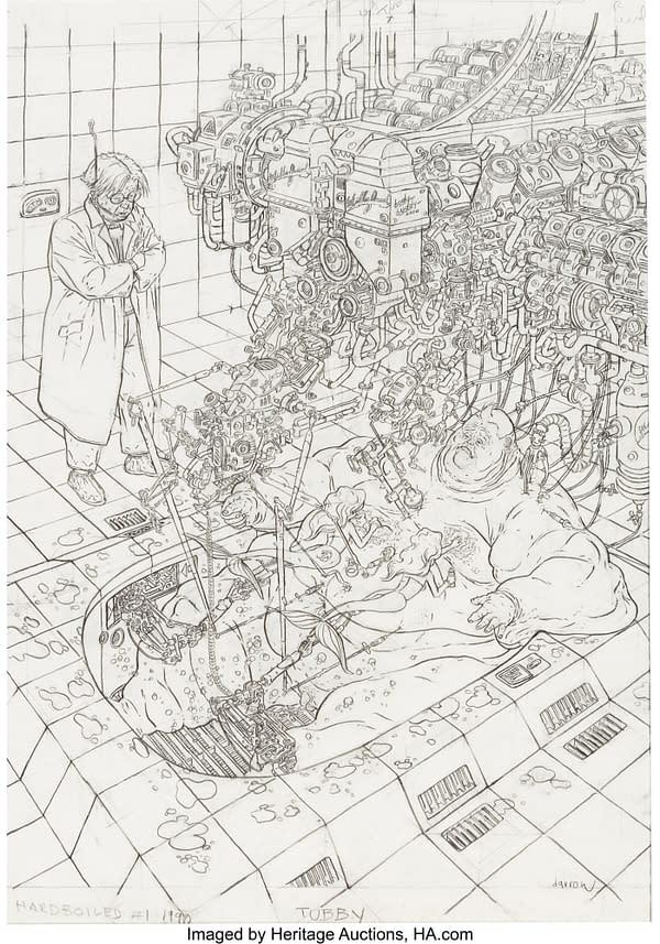Geof Darrow Hard Boiled Original Auctioned Artwork Makes You Go Blind