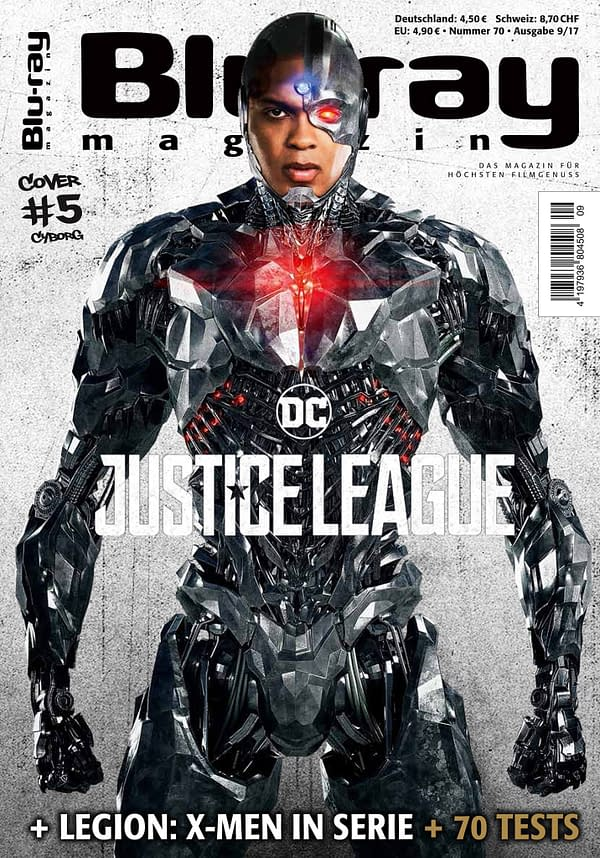 Ray Fisher Cyborg Justice League cover of Blu-ray Magazine