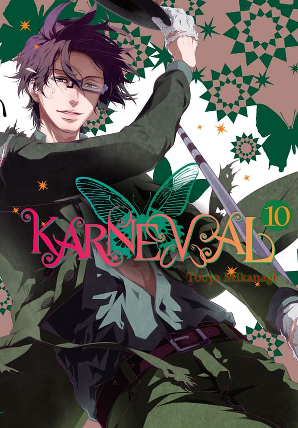 The official cover for Karneval, Vol. 10 published by Yen Press.