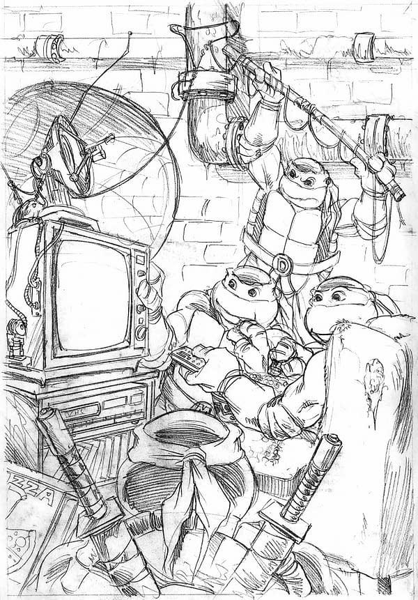 Proposed TV Guide Cover Pencils TMNT