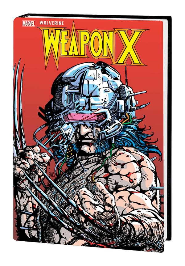 The cover to Wolverine: Weapon X Gallery Edition, by Barry Windsor-Smith, Chris Claremont, and Frank Tieri, coming to comic book stores from Marvel Comics as revealed in the publisher's November solicitations