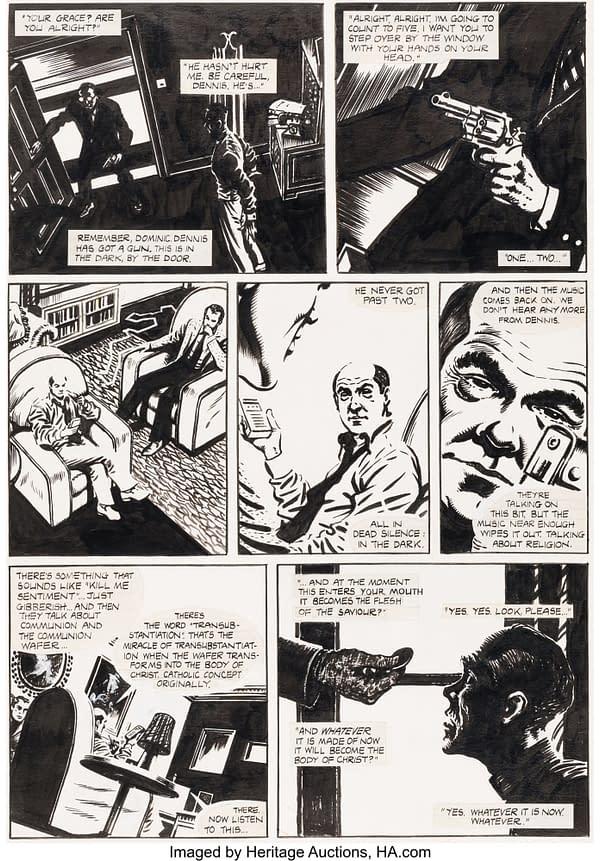 Dr Manhattan's Buttock? Watchmen Original Art Pages At Auction Today