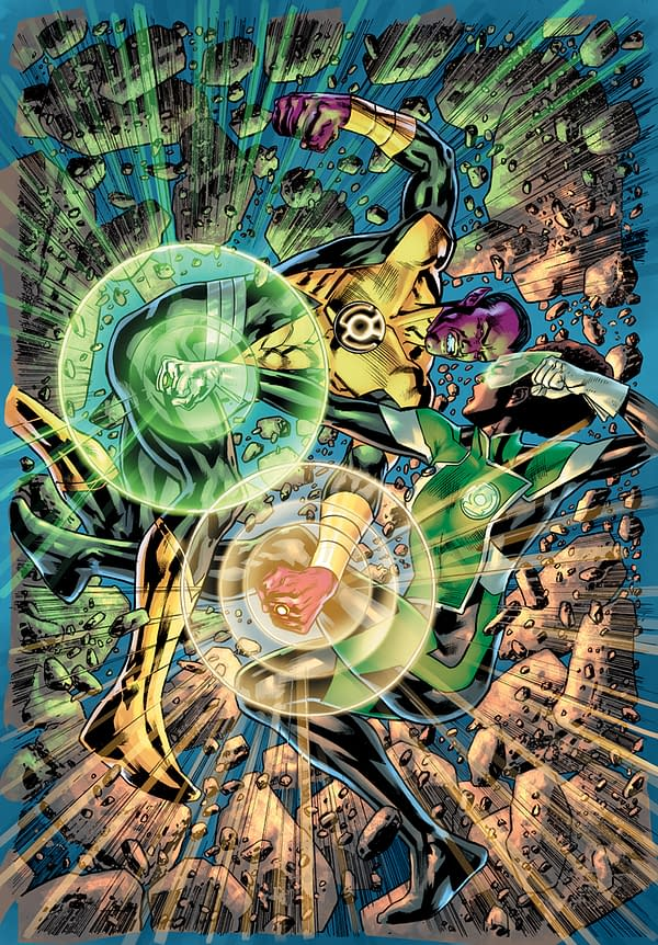 Cover image for GREEN LANTERN #6 CVR B BRYAN HITCH CARD STOCK VAR