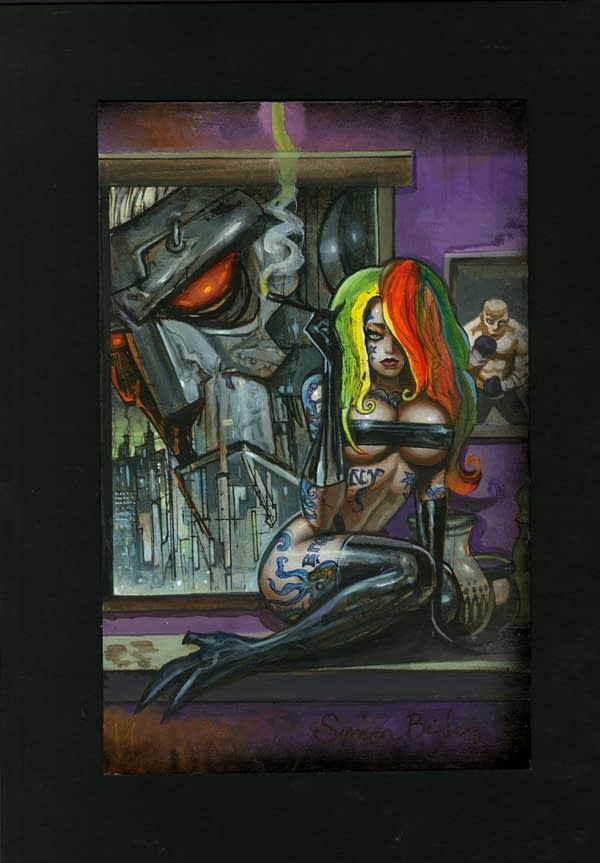 Simon Bisley Original Covers For Brooklyn Gladiator and Rai at Auction