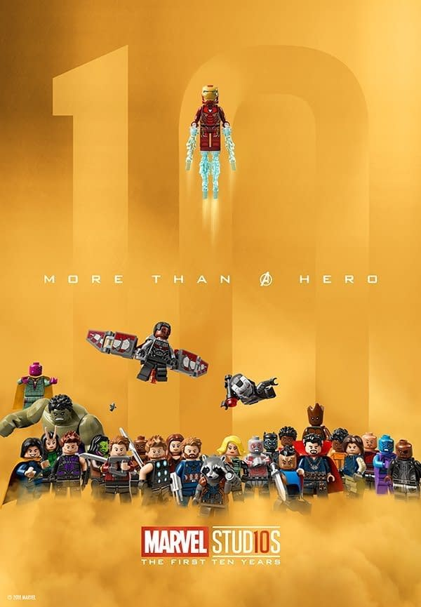LEGO Celebrates the MCU's 10th Anniversary with a Poster