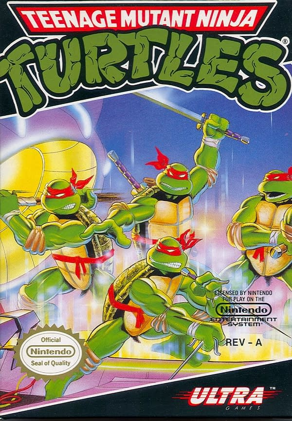 Teenage Mutant Ninja Turtles Mutant Melee 1989 NES Covermash-Up #1