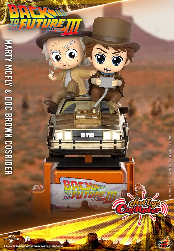 Back to the Future Trilogy CosRider Collectibles From Hot Toys
