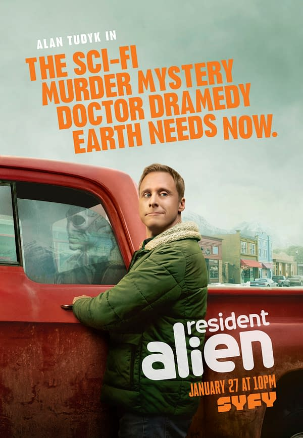 Resident Alien Sets January SYFY Launch Date; Official Trailer Posted (Image: SYFY)