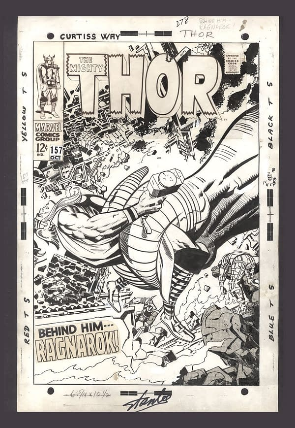 Thor: Ragnarok Art, Stan Lee, Jack Kirby, and Having Lunch with the Thing