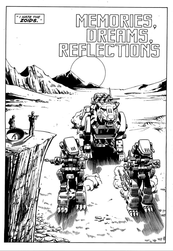 The First 6 Pages of Grant Morrison and Steve Yeowell's Zoids.